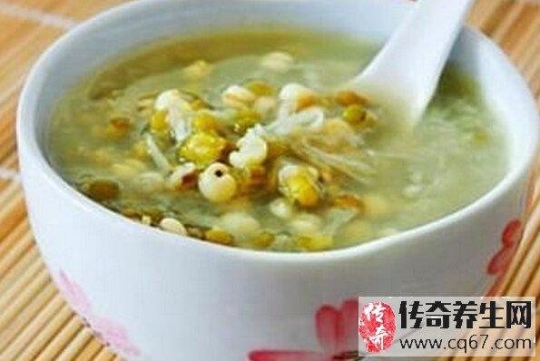 绿豆薏米粥的功效图片