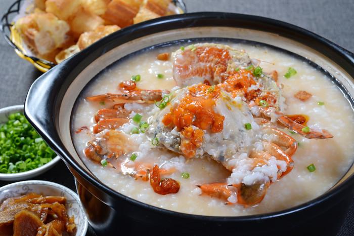 蟹肉粥的功效