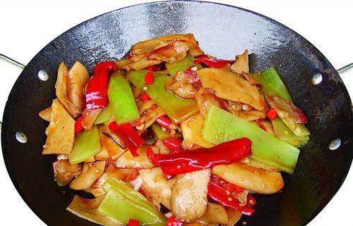 蚝油青笋杏鲍菇